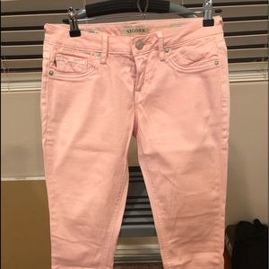 Pink skinny jeans!
